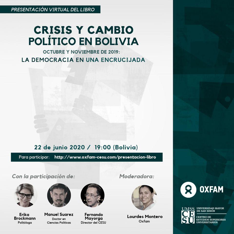 Crisis y cambio político en Bolivia, OXFAM